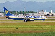 Ryanair Boeing 737-800 Next Gen, (EI-ENK ), ready for take off. at Milan, Italy