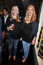 Left to right, LAURA LOPES and SARA PARKER BOWLES at the launch of Tom Parker Bowles's new book 'Full English' held in the Gallery Restaurant, Selfridges, Oxford Street, London on 9th September 2009.