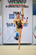 Natalia Pozharova from Etruria team during the Italian Rhythmic Gymnastics Championship in Padova, 25 November 2017.