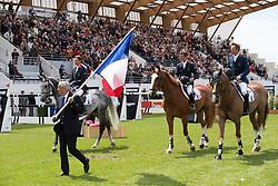 Guerdat Philippe (SUI)<br /> Chef d'equipe Team France<br /> Furusiyya FEI Nations Cup<br /> CSIO La Baule 2013<br /> © Dirk Caremans