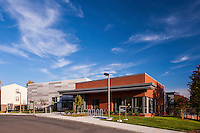 Exterior Image of the Terrace and Hillside apartments Community Center  at UMBC by Jeffrey Sauers of Commercial Photographics