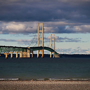 """Clouds over Mackinac Bridge""-2<br />