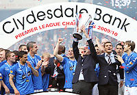 Football - Scottish Premier League -  Rangers vs Motherwell<br /> <br /> Rangers are presented with the 2009- 2010 Clydesdale Bank Premier League Trophy.