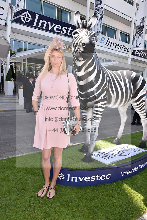 Jodie Kidd at The Investec Derby, Epsom, Surrey England. 3 June 2017.<br /> Photo by Dominic O'Neill/SilverHub 0203 174 1069 sales@silverhubmedia.com