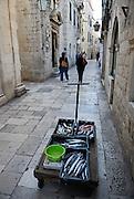 Fishmonger's barrow, Dubrovnik old town, Croatia
