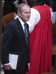 Former United States President George W. Bush during the National funeral service in honor of the late former US President George H.W. Bush at the Washington National Cathedral in Washington, DC on Wednesday, December 5, 2018.<br /> Photo by Ron Sachs / CNP/ABACAPRESS.COM