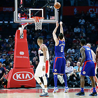 09 December 2017: LA Clippers forward Danilo Gallinari (8) is seen at the free throw line during the LA Clippers 113-112 victory over the Washington Wizards, at the Staples Center, Los Angeles, California, USA.