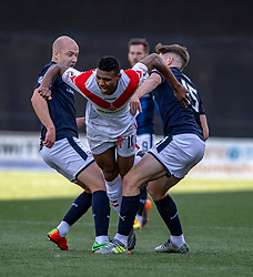 Raith Rovers Grant Gillespie, Airdrie's Joao Victoria and Raith Rovers Kevin Nisbet. Airdrie 3 v 4 Raith Rovers, Scottish Football League Division One played 25/8/2018 at the Excelsior Stadium.