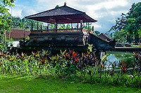 Bali, Gianyar, Tirtha Empul. Pura Tirtha Empul temple close to Tampaksiring. Park outside the temple.