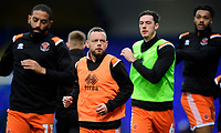 Blackpool's Jay Spearing, second in from left, during the pre-match warm-up<br /> <br /> Photographer Chris Vaughan/CameraSport<br /> <br /> The EFL Sky Bet League One - Ipswich Town v Blackpool - Saturday 23rd November 2019 - Portman Road - Ipswich<br /> <br /> World Copyright © 2019 CameraSport. All rights reserved. 43 Linden Ave. Countesthorpe. Leicester. England. LE8 5PG - Tel: +44 (0) 116 277 4147 - admin@camerasport.com - www.camerasport.com