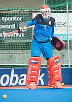 ARNHEM - Primeur. keeper JAAP STOCKMANN . Het Nederlands Mannen hockeyteam traint in Arnhem in het Olympische Adidas tenue, dat tijdens de Olympische Spelen zal worden gedragen.   COPYRIGHT KOEN SUYK