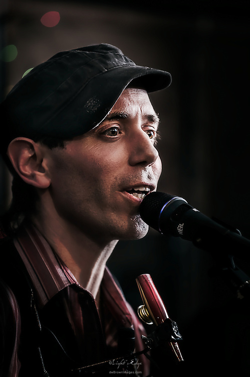 Jacopo Di Nicola of the Late Saints during a performance at The Bus Stop Music Cafe in Pitman, NJ.