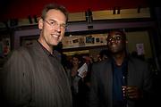 GREG HULTIE; EKO ESHUN, The Hayward Gallery 40th birthday Gala. hayward Gallery. South Bank. 9 July 2008 *** Local Caption *** -DO NOT ARCHIVE-© Copyright Photograph by Dafydd Jones. 248 Clapham Rd. London SW9 0PZ. Tel 0207 820 0771. www.dafjones.com.