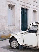 Old car parked at Saint-Martin-de-Ré, Ile de Ré, France