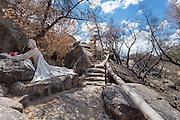 Statue of Jesus praying at the Shrine of St. Joseph in Yarnell, Arizona.
