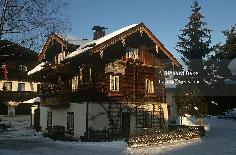 A traditional alpine chalet in the Austrian ski resort of Altenmarkt