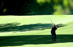 May 3, 2018 - Charlotte, NC, USA - Phil Mickelson hits his second shot to the 12th green during he first round of the Wells Fargo Championship at Quail Hollow Club in Charlotte, N.C., on Thursday, May 3, 2018. (Credit Image: © Jeff Siner/TNS via ZUMA Wire)
