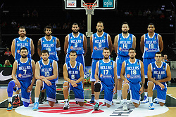 Team Greece during friendly match between National Teams of Slovenia and Greece before World Championship Spain 2014 on August 17, 2014 in Kaunas, Lithuania. Photo by Robertas Dackus / Sportida.com