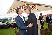 LORD ALEXANDER SPENCER-CHURCHI; JAMES COOK, Cartier International Polo Day at the Guards Polo Club. Windsor. July 26  2009