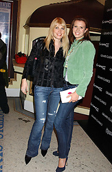 Left to right, MEREDITH OSTROM and HENRIETTA DUPS at a special Grand Classic screening of Place Vendome to celebrate Catherine Deneuve as MAC Beauty Icon 3 held at The Elecric Cinema, Portobello Road, London W11 on 30th January 2006.<br />