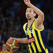 Fenerbahce Ulker's Roko Leni UKIC during their Turkish Basketball league Play Off Final fourth leg match Galatasaray between Fenerbahce Ulker at the Abdi Ipekci Arena in Istanbul Turkey on Saturday 11 June 2011. Photo by TURKPIX