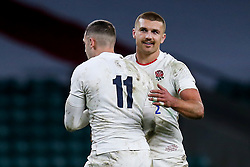 Henry Slade of England and Jonny May of England celebrate - Mandatory by-line: Robbie Stephenson/JMP - 21/11/2020 - RUGBY - Twickenham Stadium - London, England - England v Ireland - Autumn Nations Cup