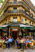 Les Deux Magots is a famous café in the Saint-Germain-des-Prés area of Paris, France. It once had a reputation as the rendezvous of the literary and intellectual élite of the city. It is now a popular tourist destination