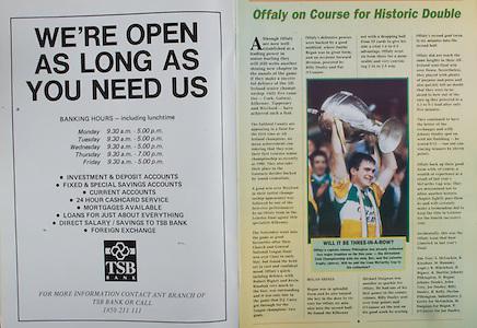 All Ireland Senior Hurling Championship - Final, .03.09.1995, 09.03.1995, 3rd September 1995, .03091995AISHCF, .Senior Clare v Offaly,.Minor Kilkenny v Cork,.Clare 1-13, Offaly 2-8, .TSB Bank,