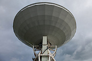The 45 metre radio telescope at Nobeyama Radio Observatory (NRO) near Minamimaki, Nagano, Japan Tuesday August 16th 2016. The NRO is a project run by the National Astronomical Observatory of Japan (NAOJ), and the institute of the National Institute of Natural Sciences (NINS). The site, operates powerful, advanced radio telescopes, including a 45-m Radio Telescope (one of the world's largest),The Nobeyama Radio Polarimeter, and the 6 antenna Nobeyama millimetre array.