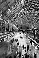 Movement of commuters at St Pancras International