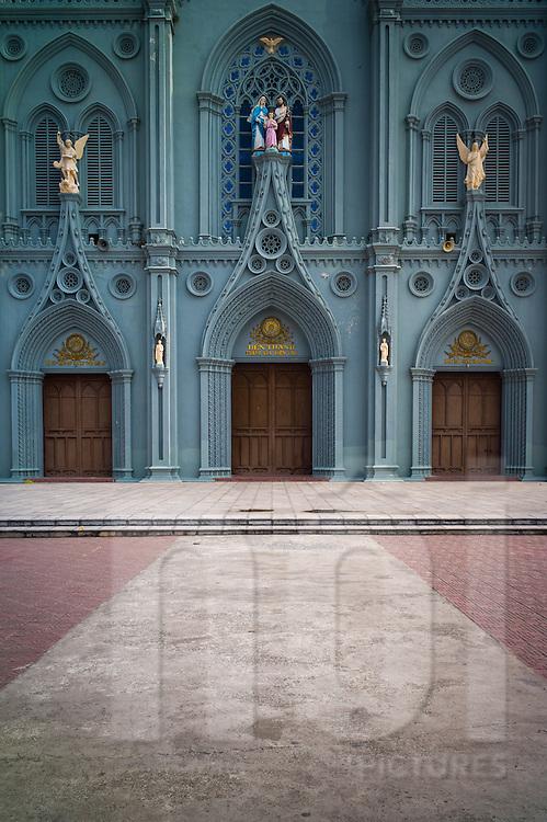 Kien Lao Cathedral, Kien Lao Village, Xuan Tien Commune, Xuan Truong District<br /> , Nam Dinh Province, Vietnam, Southeast Asia