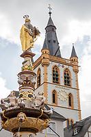 TRIER (Treves) - Duitsland - binnenstad, innerstadt,   City, centrum,  Hauptmarkt, Markt,  COPYRIGHT KOEN SUYK