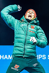 22.02.2019, Medal Plaza, Seefeld, AUT, FIS Weltmeisterschaften Ski Nordisch, Seefeld 2019, Nordischen Kombination, Siegerehrung, im Bild Weltmeister und Goldmedaillengewinner Eric Frenzel (GER) // World champion and gold medalist Eric Frenzel of Germany during the winner Ceremony for the nordic combined of FIS Nordic Ski World Championships 2019 at the Medal Plaza in Seefeld, Austria on 2019/02/22. EXPA Pictures © 2019, PhotoCredit: EXPA/ Dominik Angerer