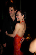 """Dominic West and  Helen McCrory.<br />. after-show party following the opening night of  at Wyndham's Theatre of """"As You Like It"""", at Mint Leaf, Suffolk Place, London.  on June 21, 2005. ONE TIME USE ONLY - DO NOT ARCHIVE  © Copyright Photograph by Dafydd Jones 66 Stockwell Park Rd. London SW9 0DA Tel 020 7733 0108 www.dafjones.com"""