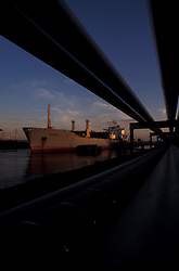 Tanker docked in the Port of Houston