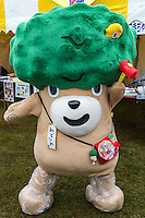Midorino Mascot - Japanese celebrate the silly, eccentric and adorable like no other country.  Its obsession with the yuru-kyara mascots is a perfect example of this.  These mascots represent products, teams, museums, schools, prisons, branches of the military, organizations  and even the national tax office.   Most towns, counties, and companies have their own yuru-kyara mascot, following this craze. Creepy or cute, they lurk around street fairs, community events, train stations and tourist destinations.  There are large Mascot Summits such as the one in Hanyu, Saitama held every year where mascots campaign and are voted on.  Mascots normally represent local culture or products. They may be created by local government or other organizations to stimulate tourism and economic development, or created by a company to build on their corporate identity. They may appear as costumed lovable characters at promotional events and festivals meant to convey affection for one's hometown or region.