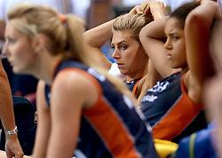 01-10-2014 ITA: World Championship Volleyball Servie - Nederland, Verona<br /> Nederland verliest met 3-0 van Servie en is kansloos voor plaatsing final 6 / Manon Flier, Laura Dijkema, Celeste Plak