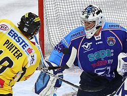 17.01.2012, Albert Schultz Halle, Wien, AUT, EBEL, UPC Vienna Capitals vs SAPA Fehervar AV19, im Bild Philipp Pinter, (UPC Vienna Capitals, #10) und Bence Balizs, (SAPA Fehervar AV19, #39)  // during the icehockey match of EBEL between UPC Vienna Capitals (AUT) and SAPA Fehervar AV19 (HUN) at Albert Schultz Halle, Vienna, Austria on 17/01/2012,  EXPA Pictures © 2012, PhotoCredit: EXPA/ T. Haumer