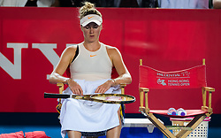 October 12, 2018 - Elina Svitolina of the Ukraine in action during her quarter-final match at the 2018 Prudential Hong Kong Tennis Open WTA International tennis tournament (Credit Image: © AFP7 via ZUMA Wire)
