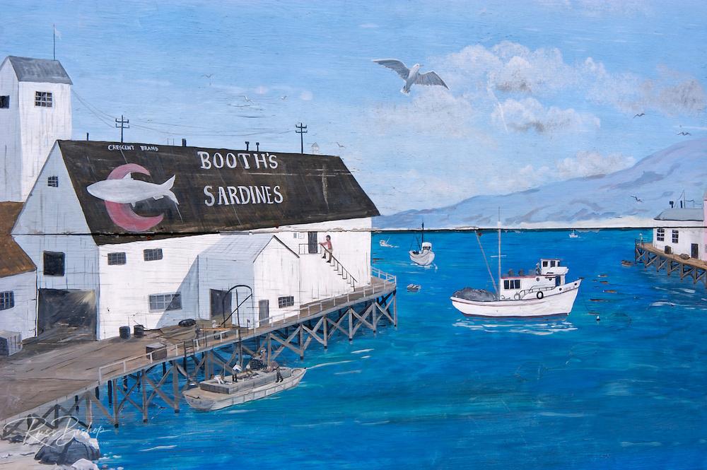 Mural on Cannery Row, Monterey, California USA