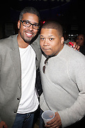 l to r: Eddie Blackmon and Devo Springsteen at John Legend Presents Vaughn Anthony at SOB's, the second artis off his label ' HomeSchool Records'  in New York City on May 14, 2009