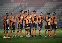 Football - 2020 / 2021 Emirates FA Cup - Round 2 - Stevenage vs Hull City - Lamex Stadium<br /> <br /> Hull City players dejected during the penalty shoot out.<br /> <br /> COLORSPORT/ASHLEY WESTERN