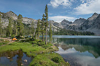 Alice Lake camp Sawtoth Mountains