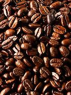 Columbian Fair Trade Coffe  beans stock photos