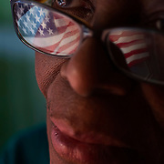 Reola Ivory, 70, keeps an American flag taped to her living room window of her Kansas City, Mo. home. Ivory commented  on the news of Osaba Bin Laden's death, killed by U.S. military forces. Ivory lost her son, Lacey Ivory, a sergeant major in the Army, who was killed at the Pentagon on 9/11/01.