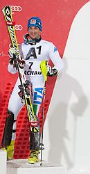 21.12.2011, Hermann Maier Weltcup Strecke, Flachau, AUT, FIS Weltcup Ski Alpin, Herren, Slalom Podium, im Bild Cristian Deville (ITA, Rang 3) // dirt place Cristian Deville of Italy on Podium Slalom of FIS Ski Alpine World Cup at Hermann Maier Pist in Flachau, Austria on 2011/12/21. EXPA Pictures © 2011, PhotoCredit: EXPA/ Johann Groder