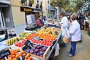Open air market Lloret de Mar, Costa Brava, Spain