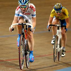 Amy Pieters in actie NK Koppelkoers