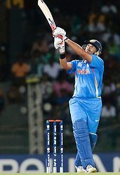 © Licensed to London News Pictures. 28/09/2012. Indian Yuvraj Singh batting during the T20 Cricket World cup match between Australia Vs India at the R.Premadasa Cricket Stadium,Colombo. Photo credit : Asanka Brendon Ratnayake/LNP