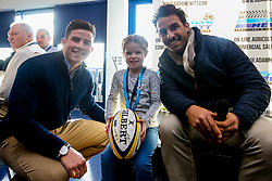 Junior takeover Owner with Will Butler and Marco Mama of Worcester Warriors - Mandatory by-line: Robbie Stephenson/JMP - 30/11/2019 - RUGBY - Sixways Stadium - Worcester, England - Worcester Warriors v Sale Sharks - Gallagher Premiership Rugby